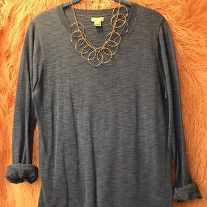 J. Crew light-weight sweater/long sleeve shirt